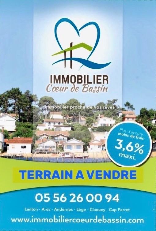 Vente Terrain Gironde 33 A Vendre Immobilier Coeur De Bassin